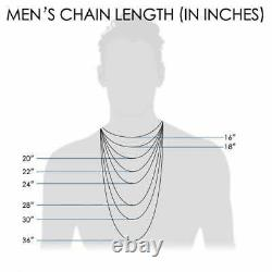 10K Solid White Gold 1.8mm-3.9mm Moon Cut Beads Dog Tag Chain Necklace 16-30