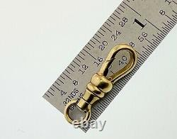 14K SOLID YELLOW GOLD Swivel DOG CLIP & Ring SPRING CLASP Pocket Watch JEWELRY