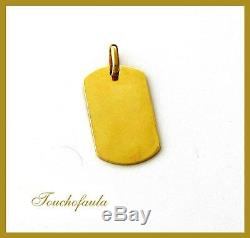 14k Yellow Gold Dog Tag ID Tag Solid Gold 14.3 Grams Magnificent And Heavy