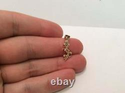 14k Real Solid Yellow Gold 3D Small Poodle Dog Animal Charm Pendant 2.10gr