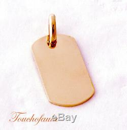 14k Rosegold Dog Tag ID Tag Solid Gold 15.5 Grams Magnificent And Heavy