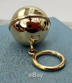 14k Solid Gold Christmas Bell, Dog Bell, Cat Bell, Pendant Large Charm Pendant