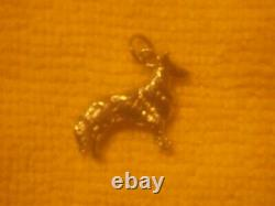 14k White Gold Collie Charm Pendant Solid Gold 4.40 grams