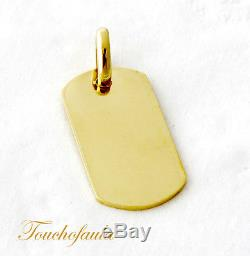 14k Yellow Gold Dog Tag ID Tag Solid Gold 15.5 Grams Magnificent And Heavy