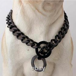15mm Stainless Steel Dog Chain Metal Training Pet Collars Thickness Slip Solid