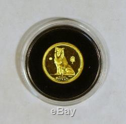 1995 Gibraltar 1/25 Royal Gem Collie gold coin from the Dog Series