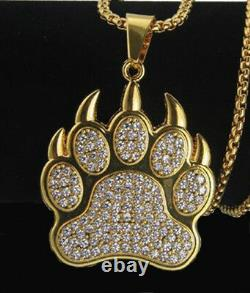 2.17ct NATURAL DIAMOND 14K SOLID YELLOW GOLD PUPPY PUG PENDANT FOR DOG LOVERS