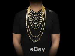 20-26 2.2mm 10k Yellow SOLID Gold Bead Ball Dog Tag Chain Necklace Mens Ladies