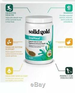 3 Solid Gold Sea Meal Dogs And Cats 1 Pound Each! FRESH! Skin Digestive Immune