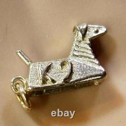 9 ct GOLD new solid doctor who dog K9 charm