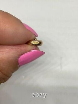 9ct 375 vintage solid rose gold dog clasp 22mm 1.9g charm (no 1)