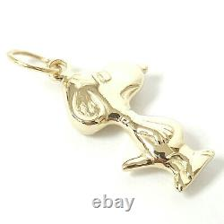 9ct Gold Snoopy Pendant Yellow Solid NEW Beagle Dog 6.6g 28.8mm High
