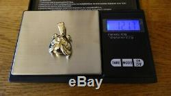 9ct Yellow Solid Gold Bull Dog Head Face Pendant 1.8CM, Weight 12.17g