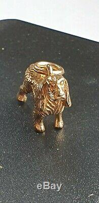 9ct Yellow Solid Gold Vintage Spaniel Dog Detailed Pendant Charm Mint No Reserve