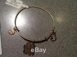 ALEX AND ANI PRINTS OF LOVE PAW PET DOG LOVERS RUSSIAN GOLD BRACELET NEW GIFT