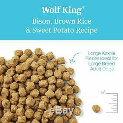 Adult Dogs Dog Food Wolf Real Natural Bison & Brown Rice Whole Grain Rich
