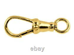 Albert Swivel Clasp Solid 18ct Yellow Gold 18mm Pocket Watch Fob Dog Clip FS67