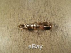Antique Solid 10K Yellow Gold Pocket Watch Dog Clip/Clasp, 2.1g