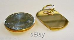 Artisan. 10K Solid Gold, Handmade DOG TAG. Charm or Pendent. LOOK