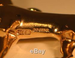 DISCOUNTED, SOLID GOLD DOG Pendant or XL Charm, Hallmarked, FREE UK POST G3