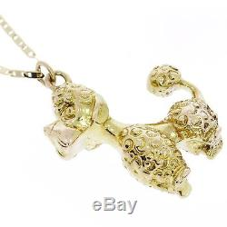 Dog Charm Solid Yellow Gold 14k Pendant Christmas Fine Jewelry Gifts