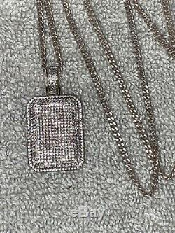 Dog Tag Solid Gold Diamond Pendant Not For Scrap