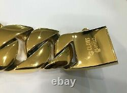 Gold Plated Solid Stainless Steel 16 Cuban Link Dog Collar Gold Dog Collar