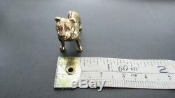 HEAVY SOLID GOLD 9CT 375 GOLD AMERICAN PITBULL DOG CHARM PENDANT LONDON 18.2g