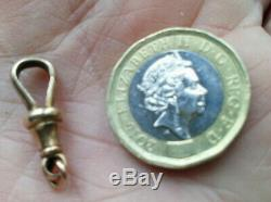 LOVELY Victorian 9ct solid Gold DOG CLIP Vgc Fastener / Findings