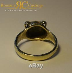Ladies Bull Dog Head Solid 9ct Solid Gold 8.8 grams 12 x 12 mm Fully Hallmarked