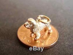 Lovely 9ct Carat 9k Solid Gold' Spaniel Dog' Charm Charms Fully Halmarked