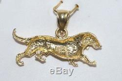 New 14k Solid Yellow Gold Dachshund Dog Charm Pendant