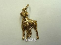NEW 9ct Solid Yellow Gold Doberman Dog Pendant Clearance 7.1 grams