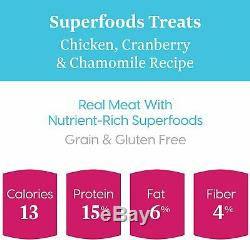 Natural Treats for Small & Toy Breeds Grain Free Superfoods Chewy Dog Treats