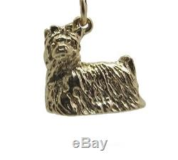 New 9ct Solid Gold Yorkshire Terrier Dog Charm Charms Pendant