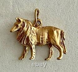 Ornate Solid 14k Yellow Gold 4.9 Gram Dog Charm/pendant, See Other Gold, Jewelry