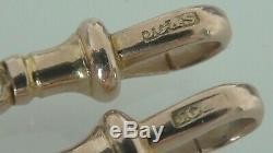 PAIR of 2 VINTAGE 9ct SOLID GOLD ALBERT WATCH CHAIN SWIVEL DOG CLIP CLASPS 3.2g