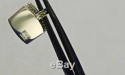 RARE! DAVID YURMAN solid 18K 750 gold DOG TAG withnew pouch 13.2 grams (nyy)