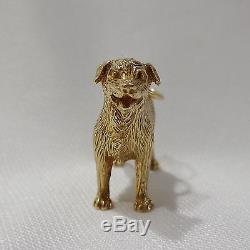 Rare Heavy Rottweiler Dog Charm/ Pendant In Solid 9ct Yellow Gold 14.2g