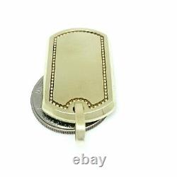 Real 10k yellow Gold solid dog tag Pendant charm shiny fine gift jewelry 6.7g