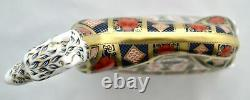 Royal Crown Derby Old Imari Solid Gold Band Lurcher New Paperweight'1st