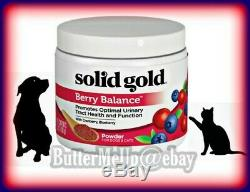 SOLID GOLD BERRY BALANCE UTI POWDER DOGS & CATS Exp5/2022 FACTORY SEALED