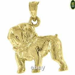 Solid 10KT Yellow Gold Animal Dog Pendant Charm Fashion Gifts Men Women Small