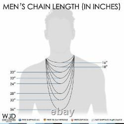 Solid 14K Rose Gold 3mm Moon Cut Bead Ball Link Dog Tag Chain Necklace 20-30