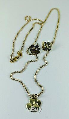 Solid 14kt Yellow Gold Dog Paw Earrings & Pendant / Necklace