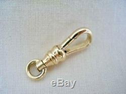 Solid 9 Carat Yellow Gold Dog Clip Suitable For An Albert Watch Chain