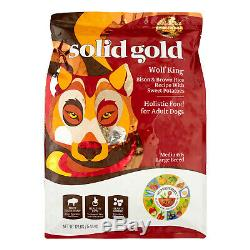 Solid Gold Bison & Brown Rice Wolf King Medium/Large Breed Dry Dog Food, 12 Lb