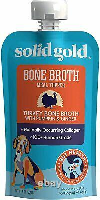 Solid Gold Bone Broth Human-Grade Bone Broth For Dogs Natural Collagen