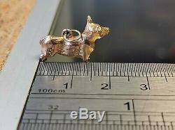 Solid Gold Corgi Dog Gold Charm, Hallmarked, Free Insured shipping #CL