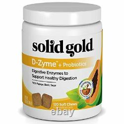Solid Gold D-Zyme Probiotics Chews for Dogs & Cats Natural Digestive Enzymes